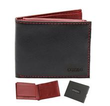 Guess Men's Leather Credit Card ID Passcase Billfold Wallet Black 31GU220029