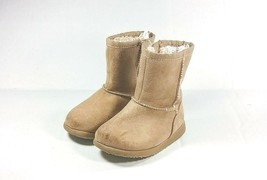 Kids Boots Toddler Girls Brown Suede Shoes Size 5k - £5.98 GBP