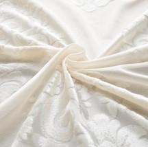 CURTIANS Style White European Classic Flocking Screens Beige White Semi ... - $19.17