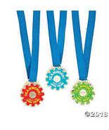 Teamwork Gear-Shaped Award Medals - $6.36