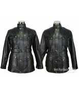 Pantera Giacca pelle Nero Uomo Moto Benjamin Brad Pitt Militare - $201.38+