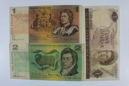 Australia & New Zealand Currency Set Aus 1979 $ 1 & NZ 1977-81 - $49.50