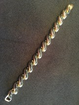Vintage Black Enamel and Gold Tone Bracelet - Gorgeous - Excellent - $11.29