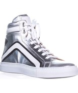 Belstaff Dillon High Top Fashion Sneakers, Silver - $206.99