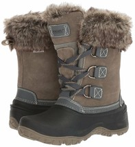 NEW WOMENS GREY KHOMBU SLOPE THERMOLITE ALL WEATHER TERRAIN WINTER SNOW BOOTS image 1