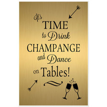 Gold and Black Wedding Time to Drink Poster - $19.31+