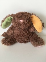 Animal Adventure Brown Bunny Rabbit Lovey Pastel Ears Paws Plush Sewn Ey... - $8.90