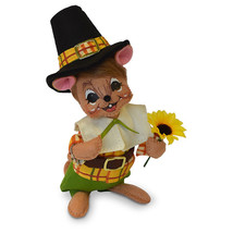 Annalee Dolls 6in 2018 Harvest Thanksgiving Pilgrim Boy Mouse Plush New ... - $18.21