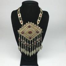 "147.4g, 26""Turkmen Necklace Pendant Vintage Gold-Gild Boho Statement Boho,TN470 - $138.60"