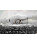 Steamer Yale Metropolitan Steamship Co Boston to New York 1910c postcard - $6.43