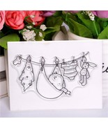Transparent clear Rubber Silicone Clear Stamps for Scrapbooking Tampons ... - $5.93