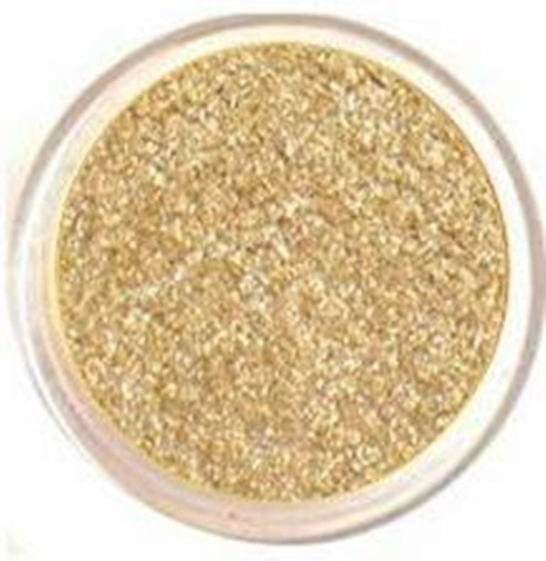 Primary image for Sparkly Gold Eyeshadow Glimmer Bare Glitter Mineral Holiday Eye Makeup Natural