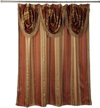 Popular Bath Contempo Spice 70 x 72 Fabric Bathroom Shower Curtain w/ Va... - $31.99