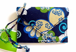 Vera Bradley Luggage Tag Envelope Style Mod Floral Blue NWT - $15.00