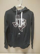 New Adidas Womens Texas A&M Aggies Hooded Sweatshirt SZ Small Black B846W - $19.00