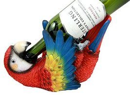 Ebros Gift Tropical Rio Rainforest Red Scarlet Macaw Parrot Wine Bottle ... - $22.67