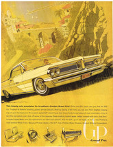 Vintage 1962 Magazine Ad Pontiac Grand Prix Real Beauty / Carnation Inst... - $5.93