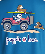 Puppie Love Rescue Dog Adult Unisex Short Sleeve Graphic T-Shirt, Dunes Pup image 2