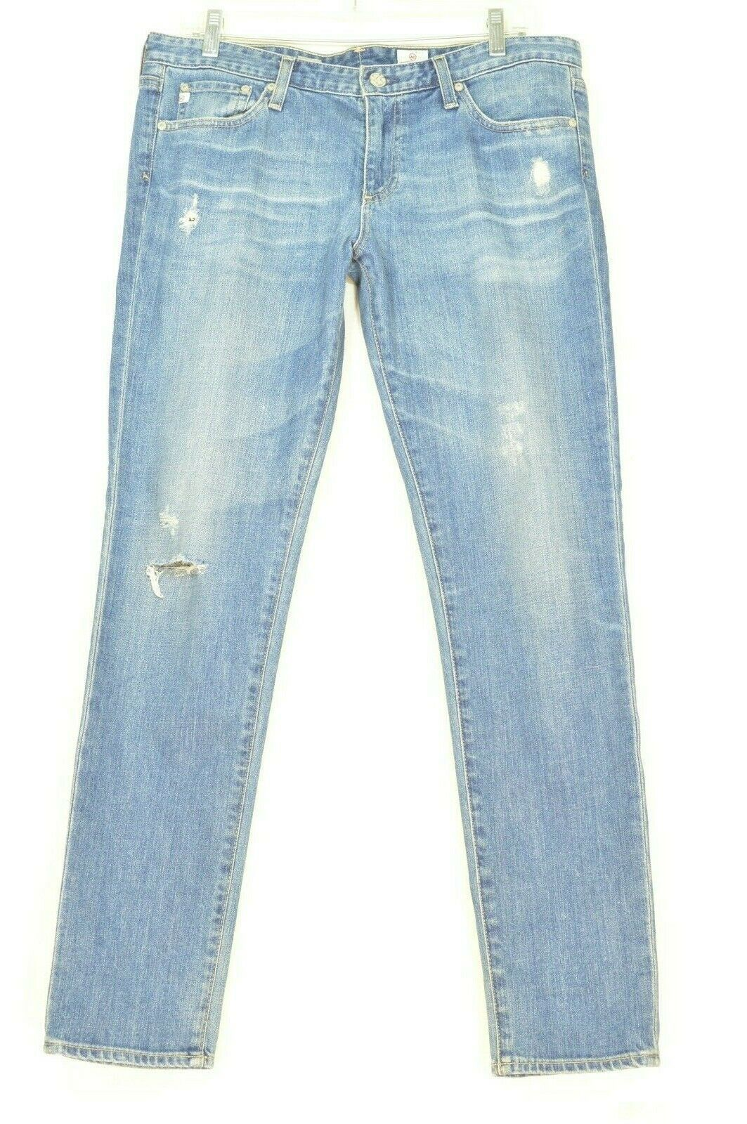 AG Adriano Goldschmied jeans 31 x 31 Stilt cigarette leg 17Y - SVT destroyed USA image 9