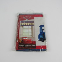 Disney Pixar Cars Line Up One Pole Top Valance Window Valance  NEW - $23.36