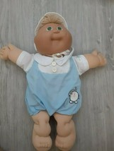 vtg Cabbage Patch Kids Boy Doll Xavier Roberts Blonde Green Eyes clothes & hat - $24.75