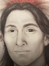 Amy Franks Depiction of Native American Life Signed  lithograph  Pencil ... - $79.20