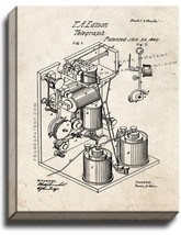 Thomas Edison Telegraph Patent Print Old Look on Canvas - $39.95+