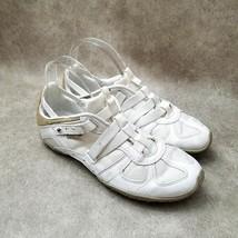 Diesel Womens Moslette  Sz 9.5 M White Leather Outdoor Comfort Walking Sneakers - $34.99