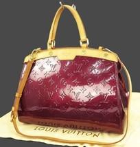 Auth LOUIS VUITTON Brea MM Rouge Fauviste Vernis Leather Shoulder Bag #1... - $1,450.00