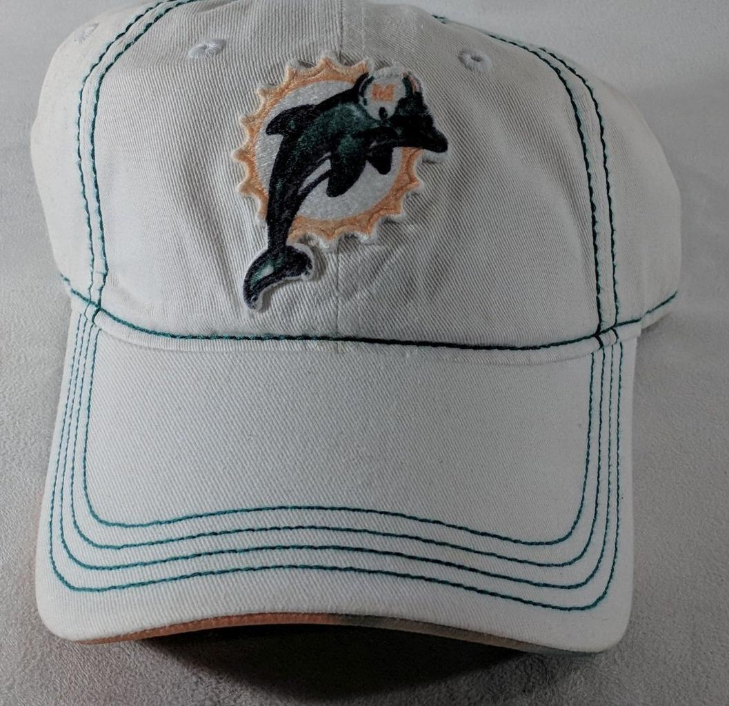 LZ NFL Team Apparel Adult One Size OSFA Miami Dolphins Baseball Hat Cap NEW i35 image 2