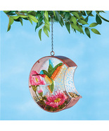 Hanging Glass Birdfeeder with Antique Finish and Scrolling Design - $26.16