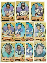 1970 Topps Minnesota Vikings Team Set with Alan Page Rookie - $18.80