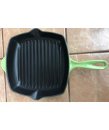 Le Creuset Enameled Cast-Iron 10-1/4-Inch Square Skillet Grill, Palm - $129.99