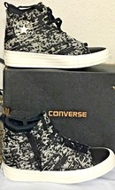 CONVERSE WINTER KNIT SELENE WOMEN'S SIDE ZIP MID SHOE, SIZE 7, BLK/GOLD,... - $51.67