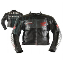 Men Black Honda Power of Dream Racing Leather Jacket Safety pads Made to... - $142.49+