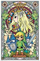 Legend of Zelda Stained Glass Looking Poster - $29.00