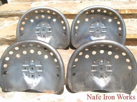 FOUR Steel Tractor seats for Bar Stool tops New Old pan style - $134.98