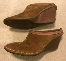 Cole Haan Wedge Shoes Leather Womens Size Sz 7.5 Women's Mules Shoe Heel - $49.45