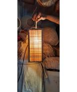 Rattan Handwoven Oriental Square Hanging Set of 2 pcs Pendant Lamp Home ... - $117.81