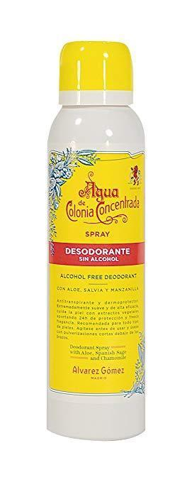 AGUA DE COLONIA CONCENTRADA ALCOHOL FREE DEODORANT 150 ML BY ALVAREZ GOMEZ