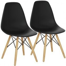 Set of 2 Mid Century Modern DSW Dining Side Chair - Color: Black - $125.16