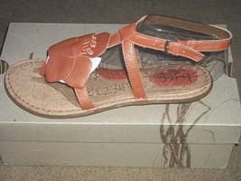 Born Concept VIOLA Hazel Flower Leather Strap Comfort Sandals New - $50.00