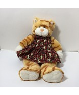 "Orange Striped Tabby Cat Kitty Plush Stuffed Animal Build a Bear 15"" wit... - $19.34"