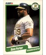 1990 Fleer #18 Dave Parker NM-MT Athletics - $0.99