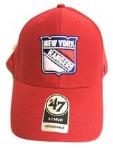 '47 MVP Adjustable New York Rangers Red Baseball Cap - New Official US Seller - $21.77