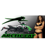 Arctic Cat Snowmobile Racing Snocross Garage Banner - Snow Chic #16 - $34.64