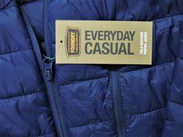 Foundry Men's Lightweight Puffer Jacket, Nav, Size 3XL image 4