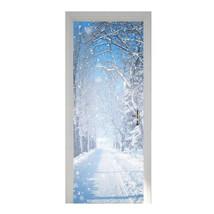 New 3D DIY PVC Waterproof Door Wall Mural Sticker Winter Snow qd022 - $22.05