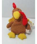 Russ Berrie Plush Home buddies Cokey the turkey beanbag terry cloth - $19.79