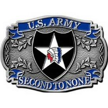 United States American Army 2nd Division Belt Buckle - $18.80